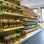 Motor Factors Car Paint Display Shelving