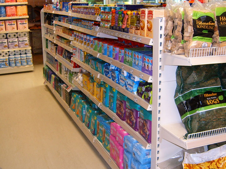 Shop Shelving in Convenience Store