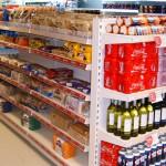 Gondola Shelving in Convenience Store