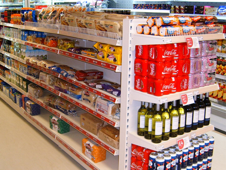 Gondola Shelving in Convenience Store