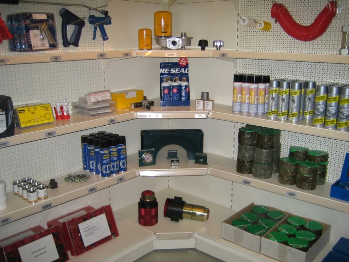 Motor Accessories Corner Shelving