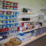 Office Supplies Store Wall Shelving