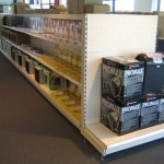 Office Supplies Store Pegboard End Bay Shelving