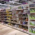 Gondola Shelving in Supermarket