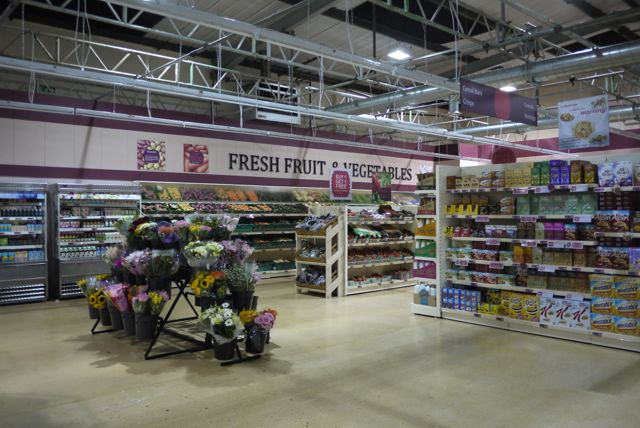 Supermarket Shelving in Store