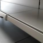 Silver shop shelving installation