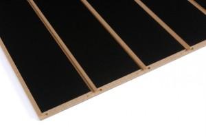 black slatwall panel