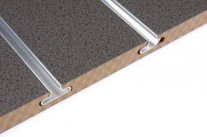 granite slatwall with aluminium inserts
