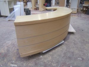 Curved Reception Desk for Clubs and Hotels