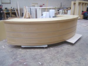 Curved Counter or Reception Desk front View