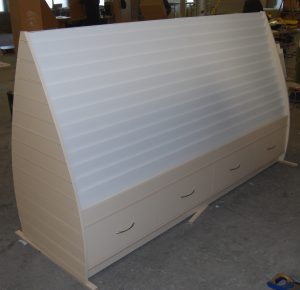 Very Large Double Sided Greetings Card Display Unit with Storage Drawers