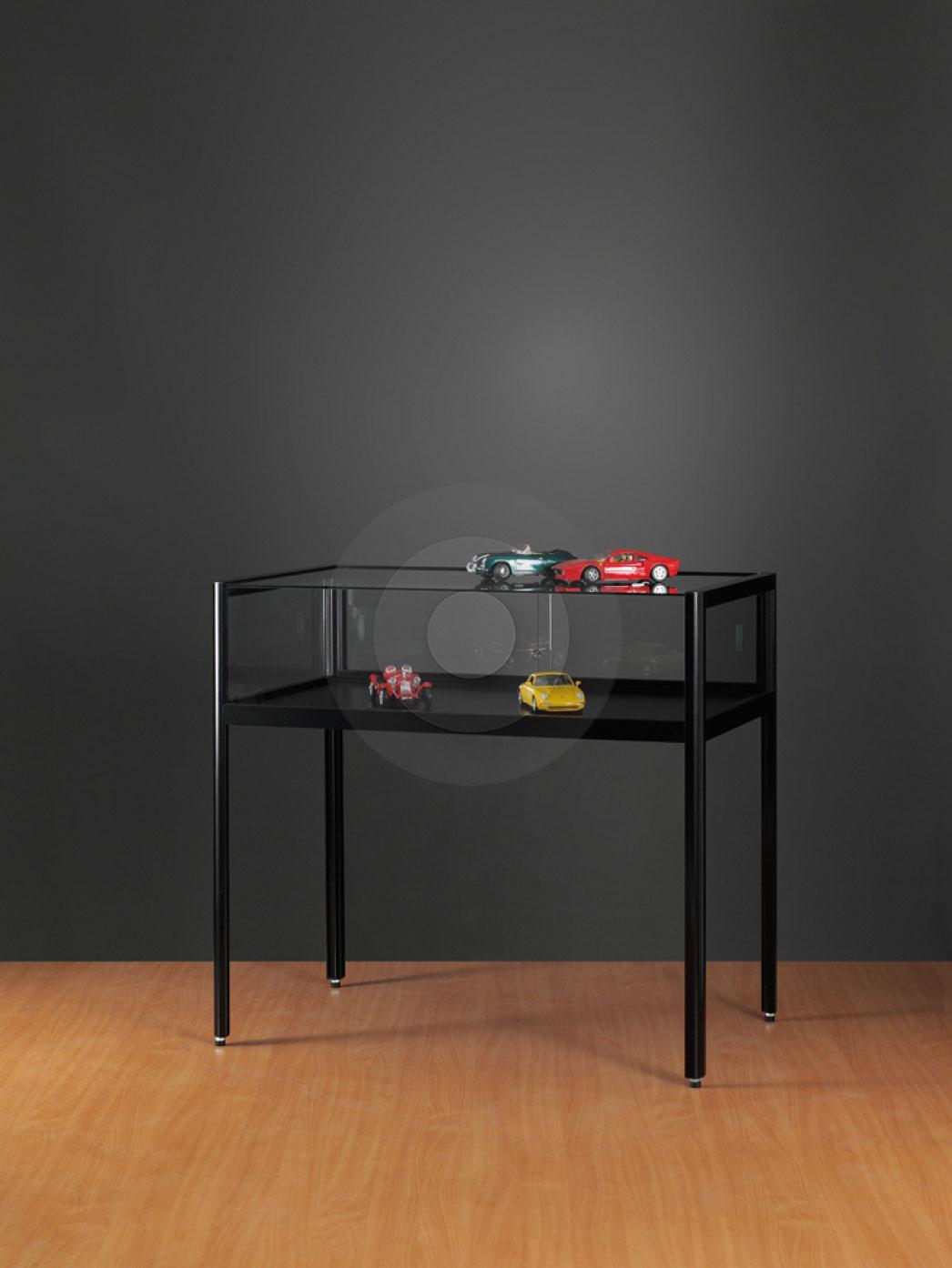 Black Display Cabinets Shelving Megastore