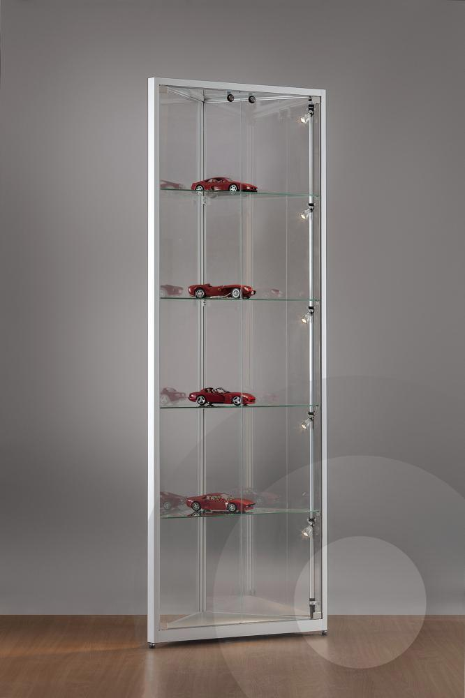 corner display cabinet with glass top