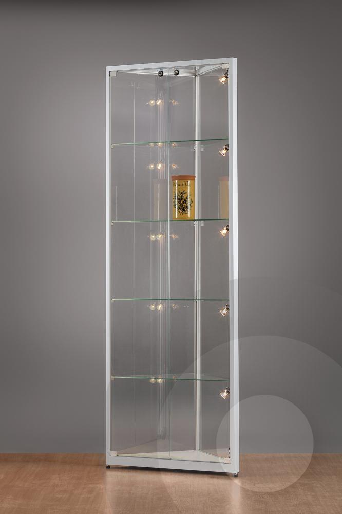 Corner Retail Display Cabinet With Glass Top Glass Showcase