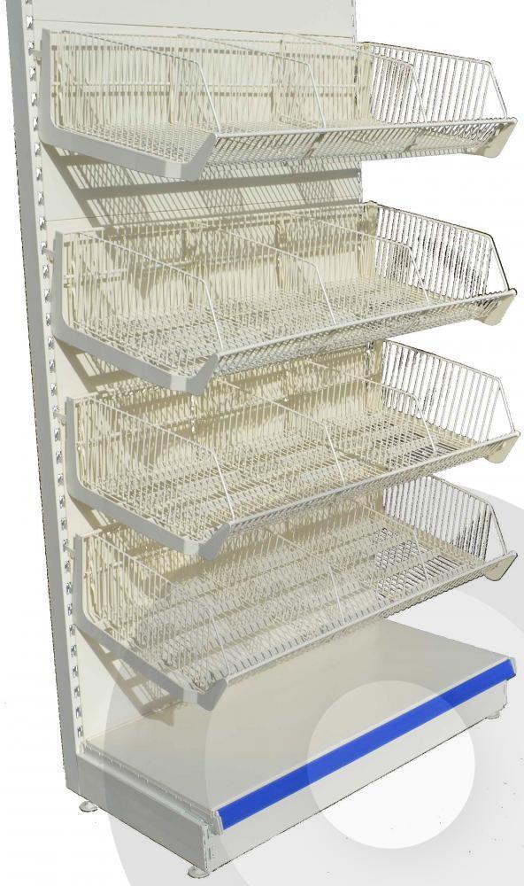 bce91a5ca6d46 Extra Deep Wire Basket Shelving Unit Extra Deep Wire Basket Shelving Unit