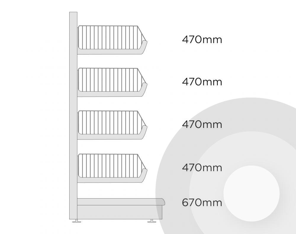 cc7da049e8026 Extra Deep Wire Basket Shelving Unit