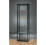 Black  Display Cabinet with Glass Top 600mm