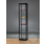 Black Display Cabinet  with Glass Top 400 mm