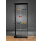 Black Display Cabinet with 2 Doors at Front - 800 mm