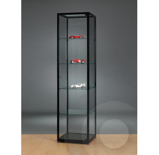 Black Display Cabinet with Glass Top 500 mm