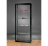 Black Retail Display Cabinet with Glass Top - 800mm