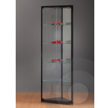 Black Corner Display Cabinet with Glass Top