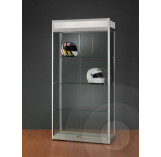 Display Cabinet with Illuminated Header 1000mm