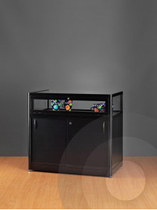 black dustproof display counter