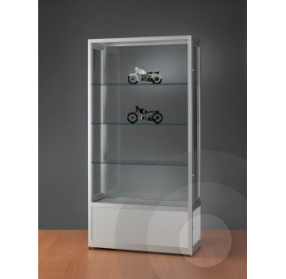 Dustproof Display Cabinet with Cupboard 1000mm
