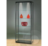 Black Display Cabinet 800 mm 2 Doors on Front