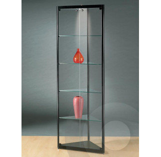 Black Corner Display Cabinet