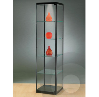 Black Tower Display Cabinet 500 mm