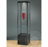Black Display Cabinet With Storage Cupboard