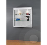 Wall Mounted Display Cabinet with Header for logo