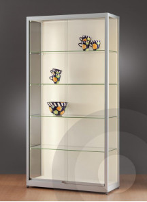 Wall Retail Display Cabinet With Led Strip Lights 1000mm