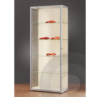 Wall Retail Display Cabinet with LED Strip Lights - 800mm