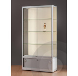 Wall Retail Display Cabinet with storage cupboard - 1000mm