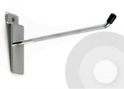 single slatwall hook 45 degree end with plastic cap