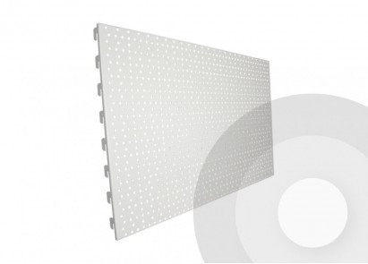 shelving perforated pegboard back panel