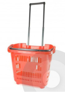 red trolley basket handle up