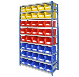 Expo 4 Bays with Plastic Storage Bins