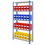 Rivet Racking Bays with Plastic Storage Bins