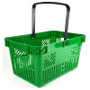 green single handle shopping basket