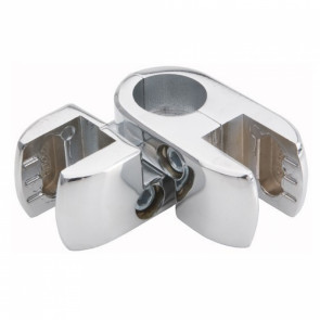angle double panel clamp for chrome tube