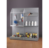 Sloping Top Display Cabinet for Shop Shelving