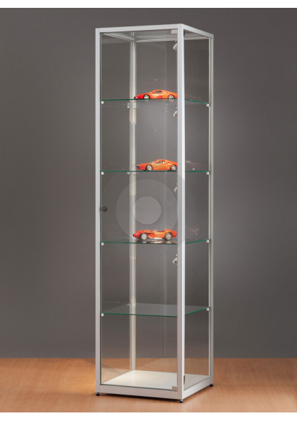 Square Display Cabinet with Glass Top