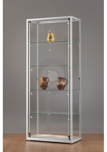 Rectangular Display Cabinet with Glass Top
