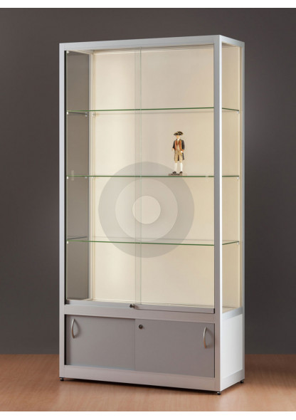 wall display cabinet with LED strip lights