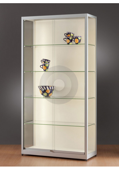 glass display cabinet for against walls
