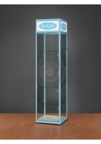 Branded Logo Header Display Cabinet